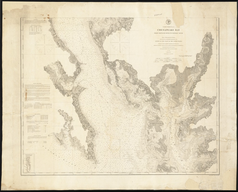 Coast Chart No. 34, Chesapeake Bay, from Choptank River to Potomac River