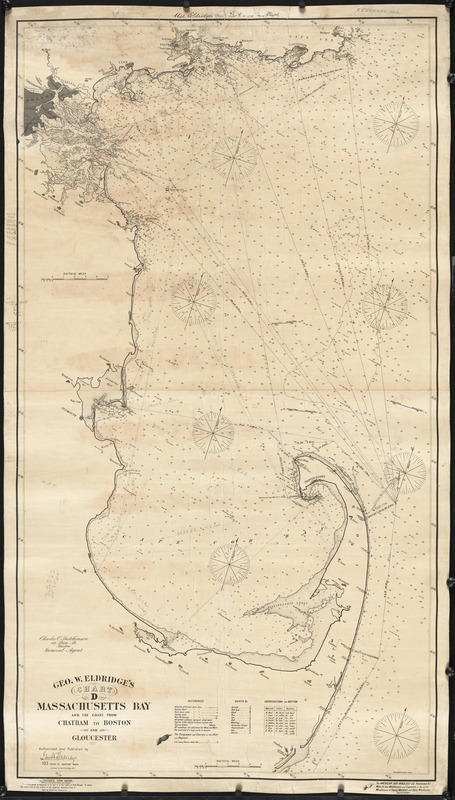 Geo. W. Eldridge's chart D, Massachusetts Bay and the coast from Chatham to Boston and Gloucester