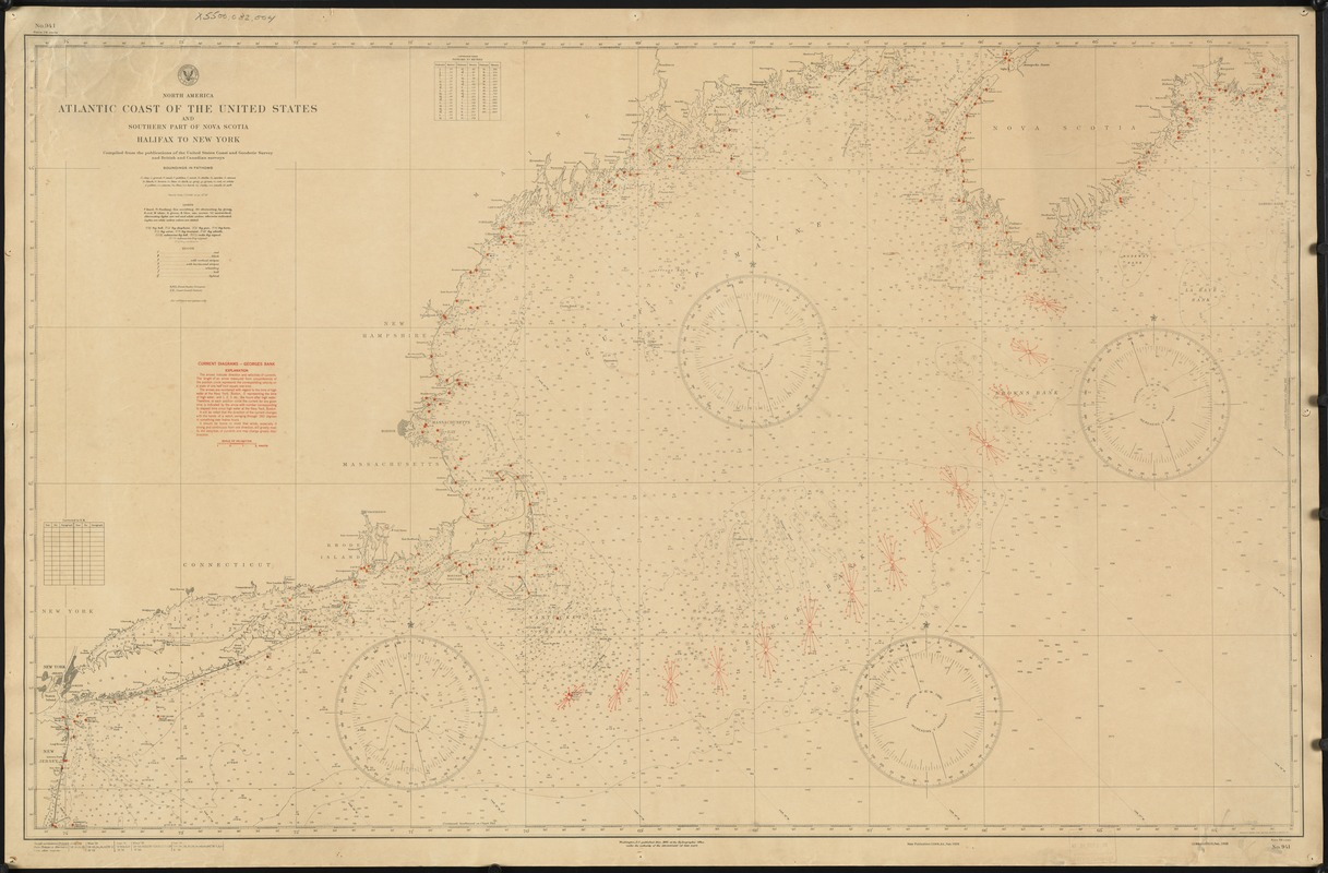 North America. Atlantic coast of the United States and southern part of Nova Scotia, Halifax to New York
