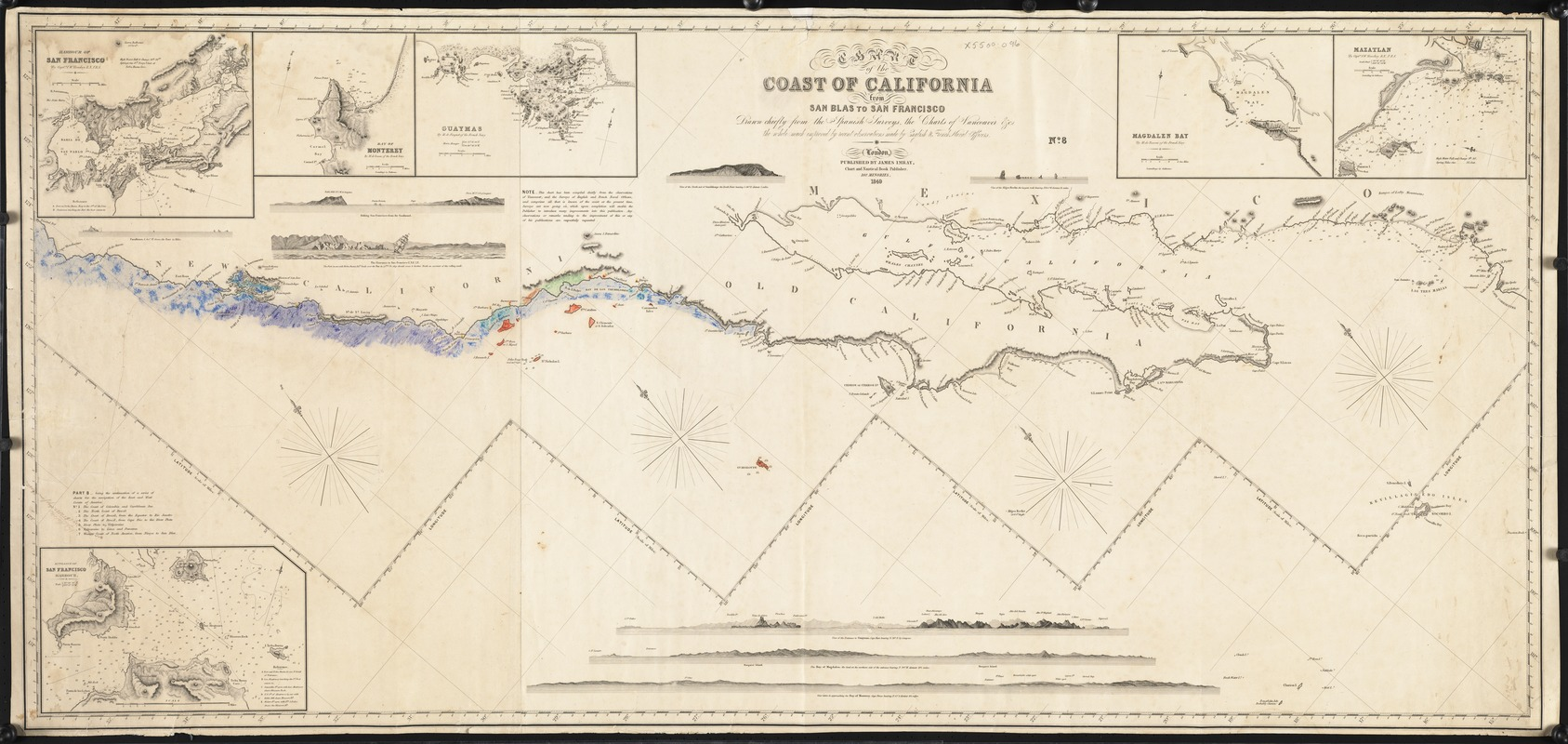 Chart of the coast of California from San Blas to San Francisco