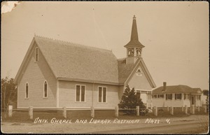 Univ. chapel and library, Eastham Mass