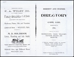 Resident and business directory of Cape Cod, Massachusetts, 1901