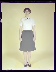 Women's white blouse - worn with army green skirt & army blue skirt