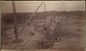 Sudbury Department, Hopkinton Dam, southerly end looking north, Ashland, Mass., 1890