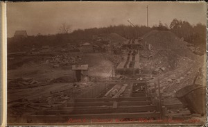 Sudbury Department, Hopkinton Dam, trench and core wall, southerly end, Ashland, Mass., 1890