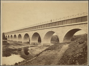 Sudbury Department, Sudbury Aqueduct, Waban Bridge, Wellesley, Mass., ca. 1878