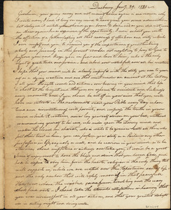 Letter to Gershom Winsor from his father