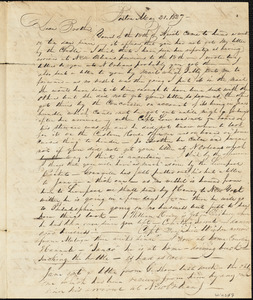Letter from Nathaniel Winsor to Daniel Winsor