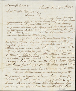 Letter from Thatcher Magowan, Esp. to Capt. Daniel L. Winsor received at New Orleans
