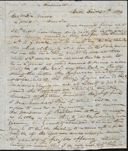 Letter from Magowan to Winsor received at Liverpool