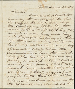 Letter from Magowan to Winsor concerning freight prospects at Mobile versus New Orleans