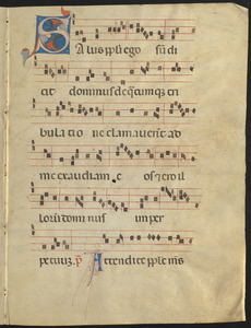 Bifolium from a ca. 15th-century gradual