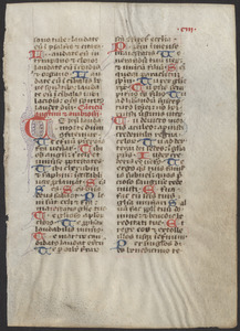 Single leaf from a 13th-century breviary