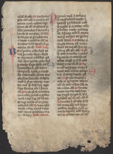 Single leaf from a 1440 breviary