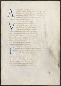 Leaf from the Comedies of Terence in the hand of Giuliano d'Antonio da Prata