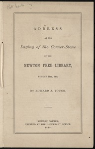 Newton Free Library documents 1865-1886 [compiled by the staff of the Newton Free Library]