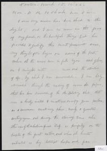 Letter to David K. Hitchcock, March 15, 1886