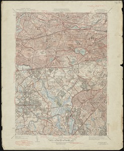 USGS  7 1/2 minute series: Newton, Massachusetts, 1949