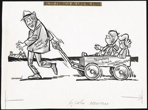 Collection of political cartoon drawings / Eddie Germano