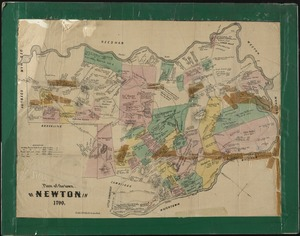 Plan of the town of Newton in 1700