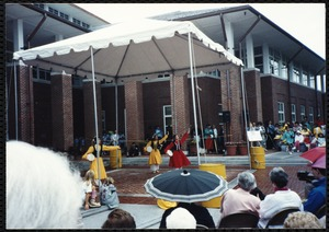 Newton Free Library Grand Opening Celebration, September 15, 1991. Chinese dancers