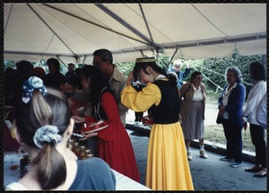 Newton Free Library Grand Opening Celebration, September 15, 1991. Food concessions. Dancers