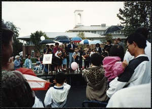 Newton Free Library Grand Opening Celebration, September 15, 1991. Suzuki violins. Children