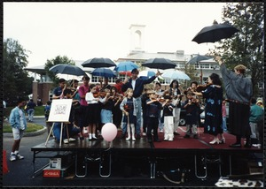 Newton Free Library Grand Opening Celebration, September 15, 1991. Suzuki violins. Children performing