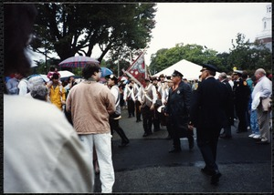Newton Free Library Grand Opening Celebration, September 15, 1991. Fife & Drum Corps (Bedford, MA). Audience