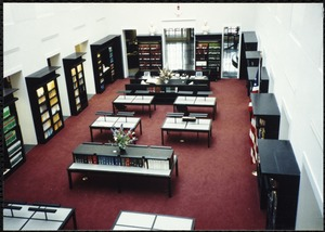 Newton Free Library Grand Opening Celebration, September 15, 1991. Interior. Atrium