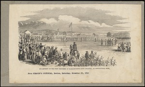 Encampment of the First Regiment of Massachusetts Light Infantry at Newtonville, Mass., 1852