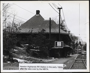 Villages of Newton, MA. Newton Highlands. Newton Highlands Railroad Station