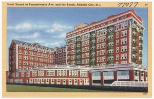 Hotel Strand at Pennsylvania Ave., and the beach, Atlantic City, N.J.