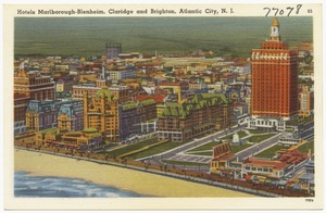 Hotels Marlborough-Blenheim, Claridge, and Brighton, Atlantic City, N.J.