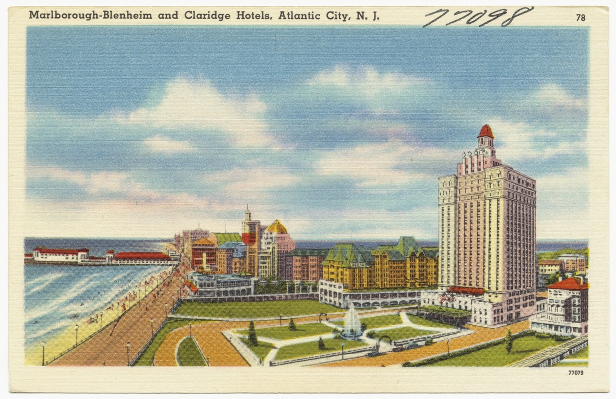 Marlborough-Blenheim and Claridge hotels, Atlantic City, N.J.