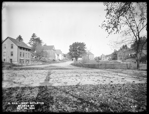 Wachusett Reservoir, Beaman Street, from the south side of East Main Street, looking north, West Boylston, Mass., Oct. 28, 1896