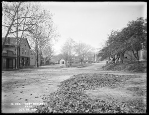 Wachusett Reservoir, West Boylston Park, Square and Common from the east at corner of Beaman and East Main Street, West Boylston, Mass., Oct. 28, 1896
