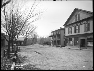 Wachusett Reservoir, Prospect Street, from the south side of East Main Street, at west end of Common looking southwest, West Boylston, Mass., Oct. 28, 1896