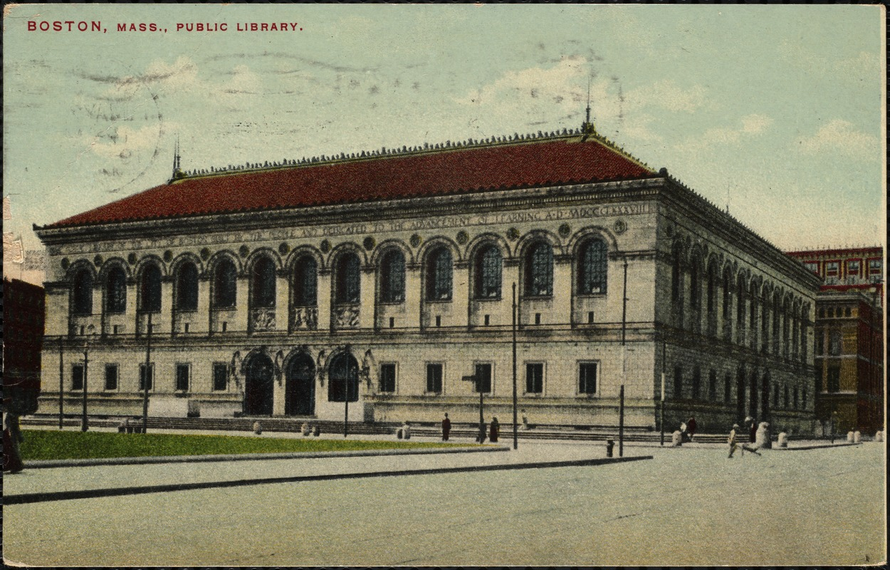Boston, Mass., public library