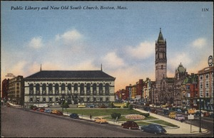 Public library and new Old South Church, Boston, Mass.