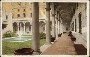 Court yard, Boston Public Library