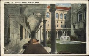 Court yard, public library, Boston, Mass.