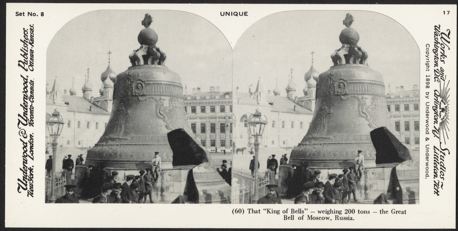 """That """"King of Bells"""" -weighing 200 tons - the Great Bell of Moscow, Russia"""