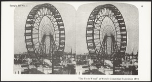 """""""The ferris wheel"""" at the World's Columbian Exposition 1893"""