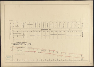 Street plan of Thornton St., East Haverhill to William