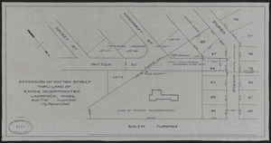 Extension of Patton Street thru land of Eaton Incorporated, Lawrence, Mass.