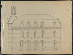 Architectural drawing of Lawrence High School