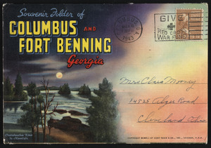 Souvenir folder of Columbus and Fort Benning Georgia