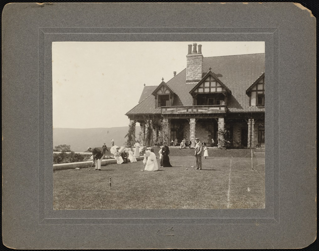 Shadow Brook: croquet game on lawn