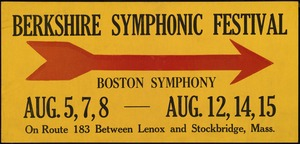 Berkshire Symphonic Festival: directional sign